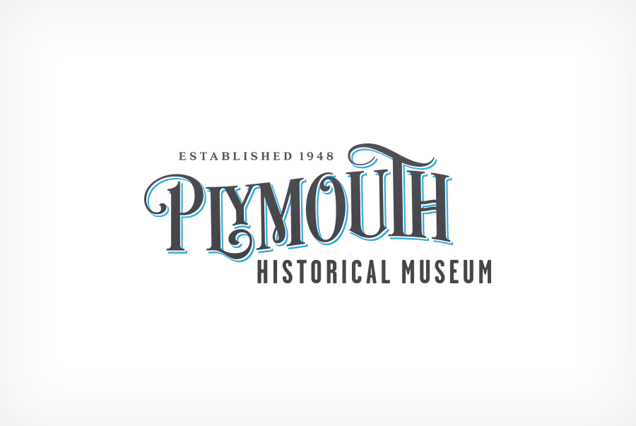 Plymouth Historical Museum logo brand identity