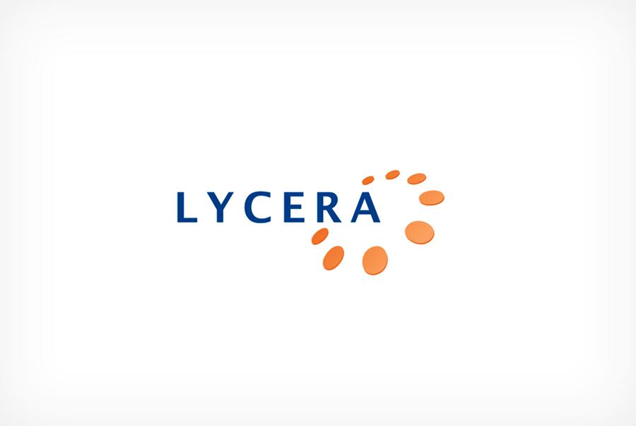 Lycera corporation pharmaceutical logo design