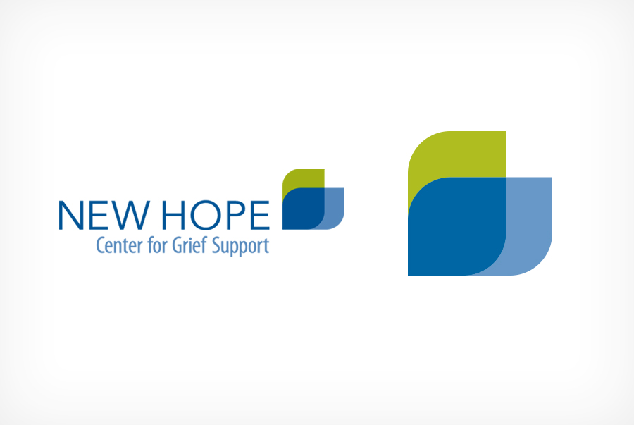 New Hope Center for Grief Support logo brand identity Non profit branding and logo design