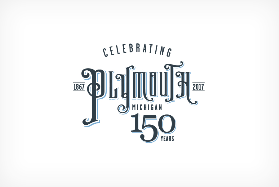 City of Plymouth 150th commemorative logo