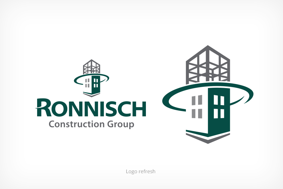 Ronnisch Construction Group logo refresh brand identity