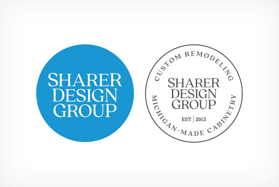 Sharer Design Group Kitchen home remodeling logo design brand identity