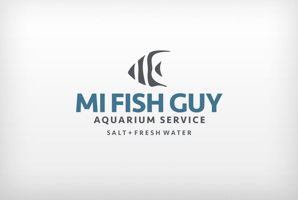 MI Fish Guy logo, logo design, branded logo, branding