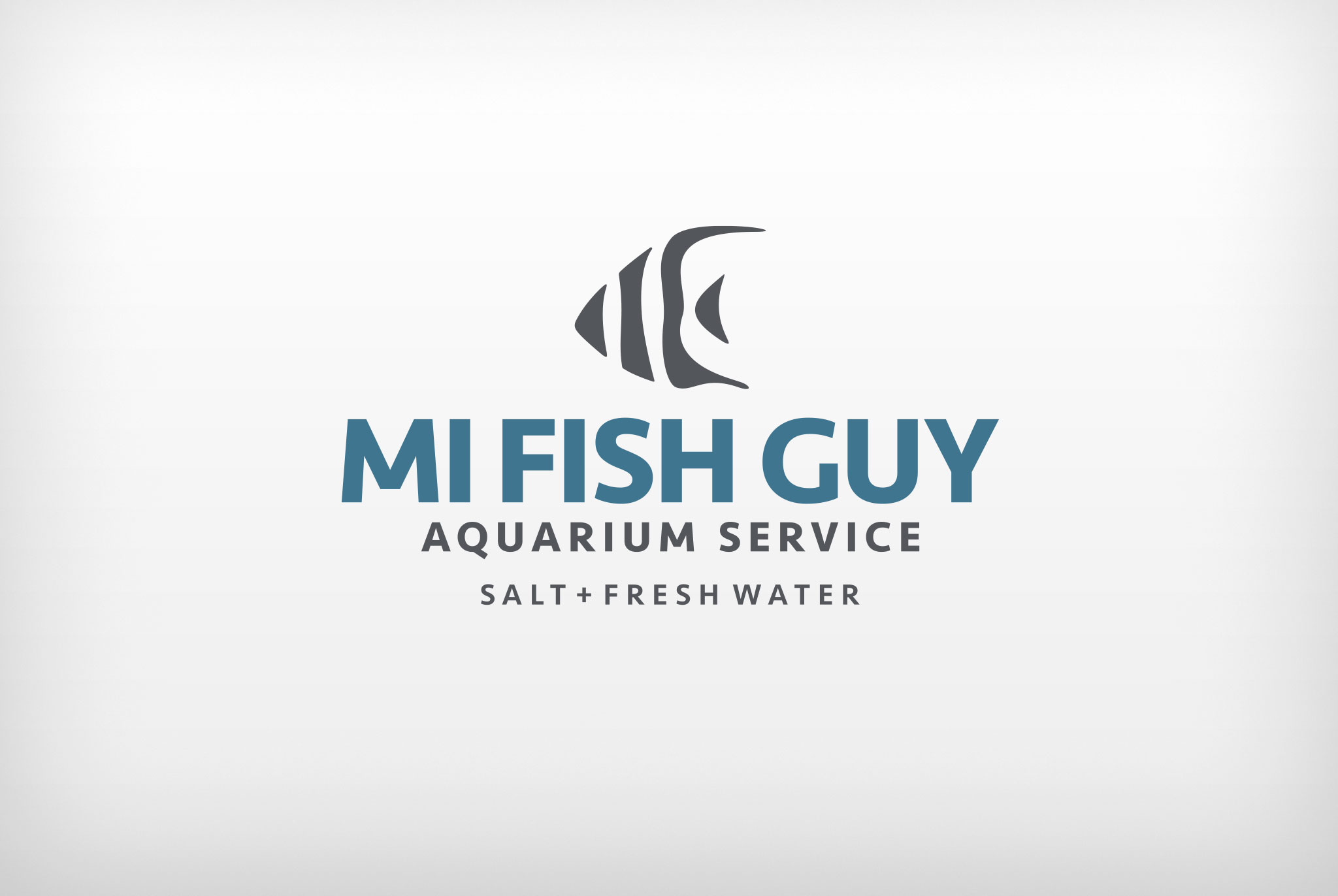 MI Fish Guy logo, logo design, branded logo, branding