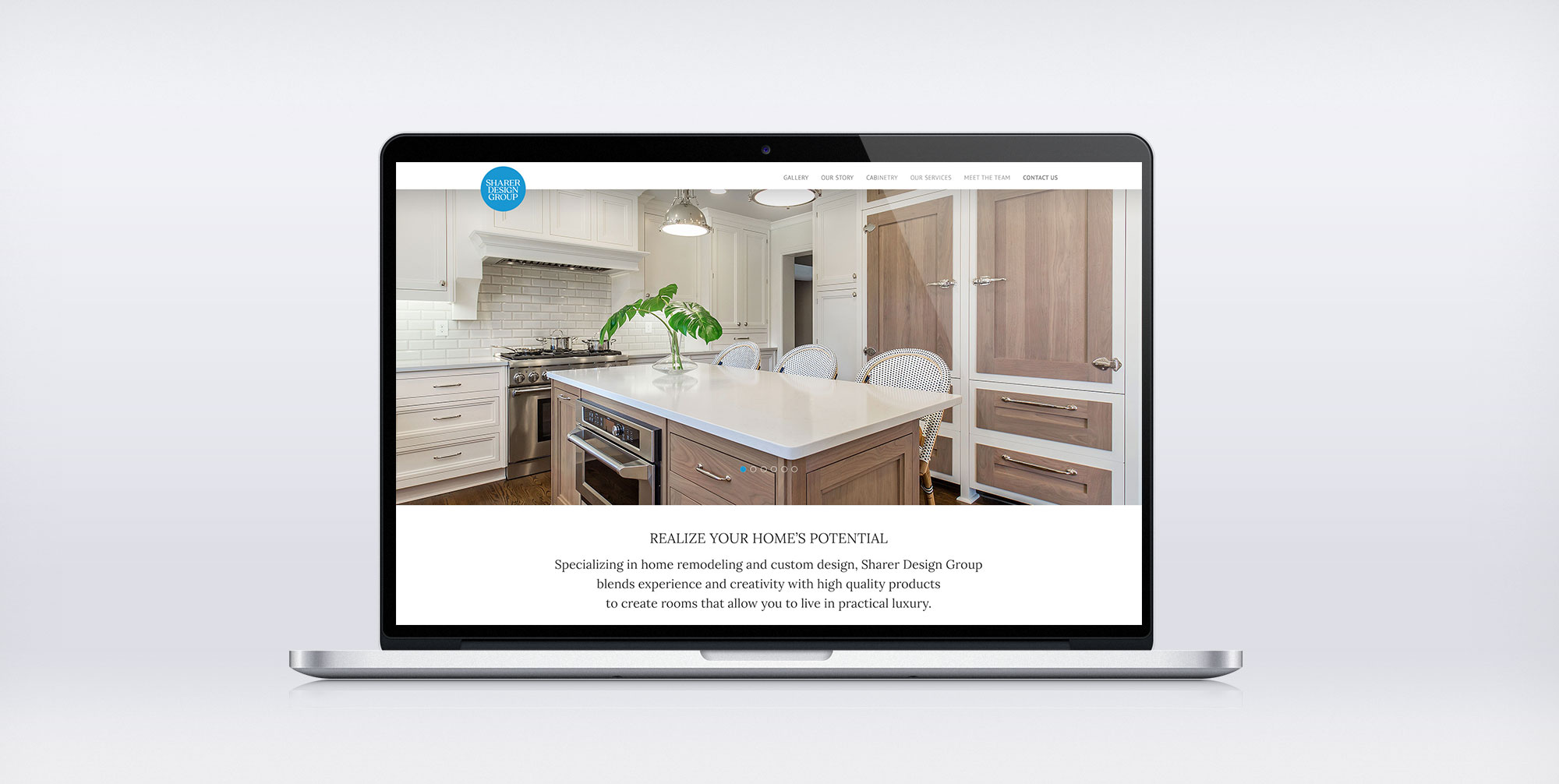 Home remodeling company website design
