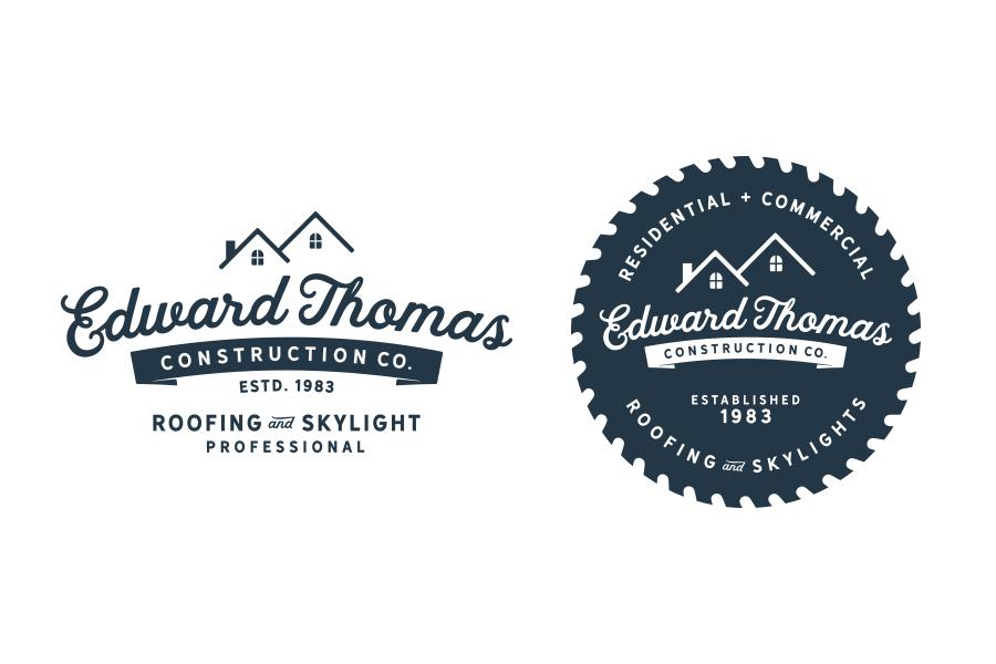 roofing company logo design, branding, brand design, construction company branding